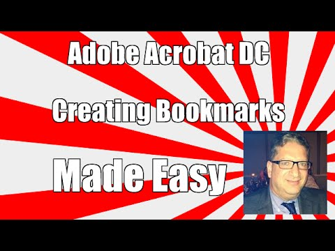 Adding BookMarks In Adobe acrobat DC
