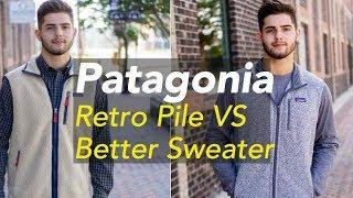 Gambar cover Patagonia Retro Pile Better Sweater Fleece Jacket Vest Comparison Grey