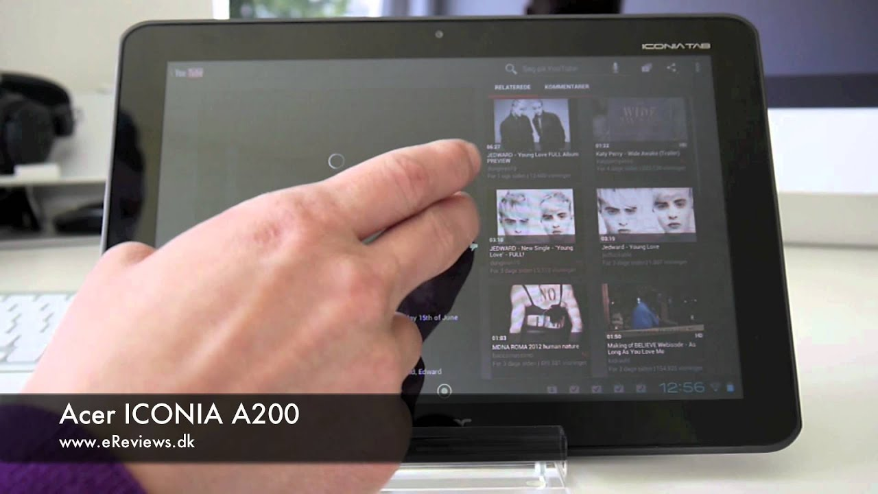 Acer Iconia A200 Preview Youtube