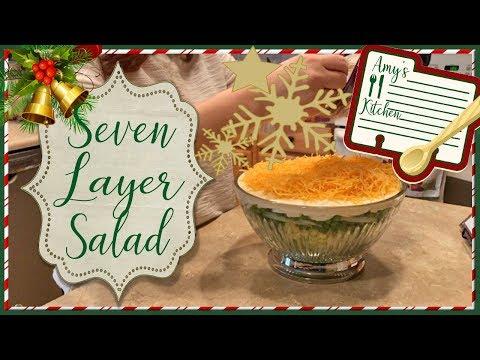 EASY! Seven Layer Salad | Holiday Side Dish | Christmas Meal