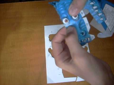 Дракон иллюзия из бумаги
