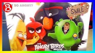 ANGRY BIRDS и MISTER BOY в кино! Играем с кинетическим песком и покупаем детскую боксерскую грушу!