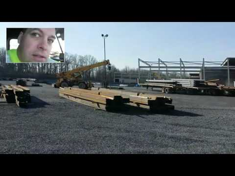 "Delivering Steel ""I"" beams in Greencastle PA"