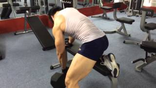 Duy Nguyễn dumbbell row giật lưng 90lbs