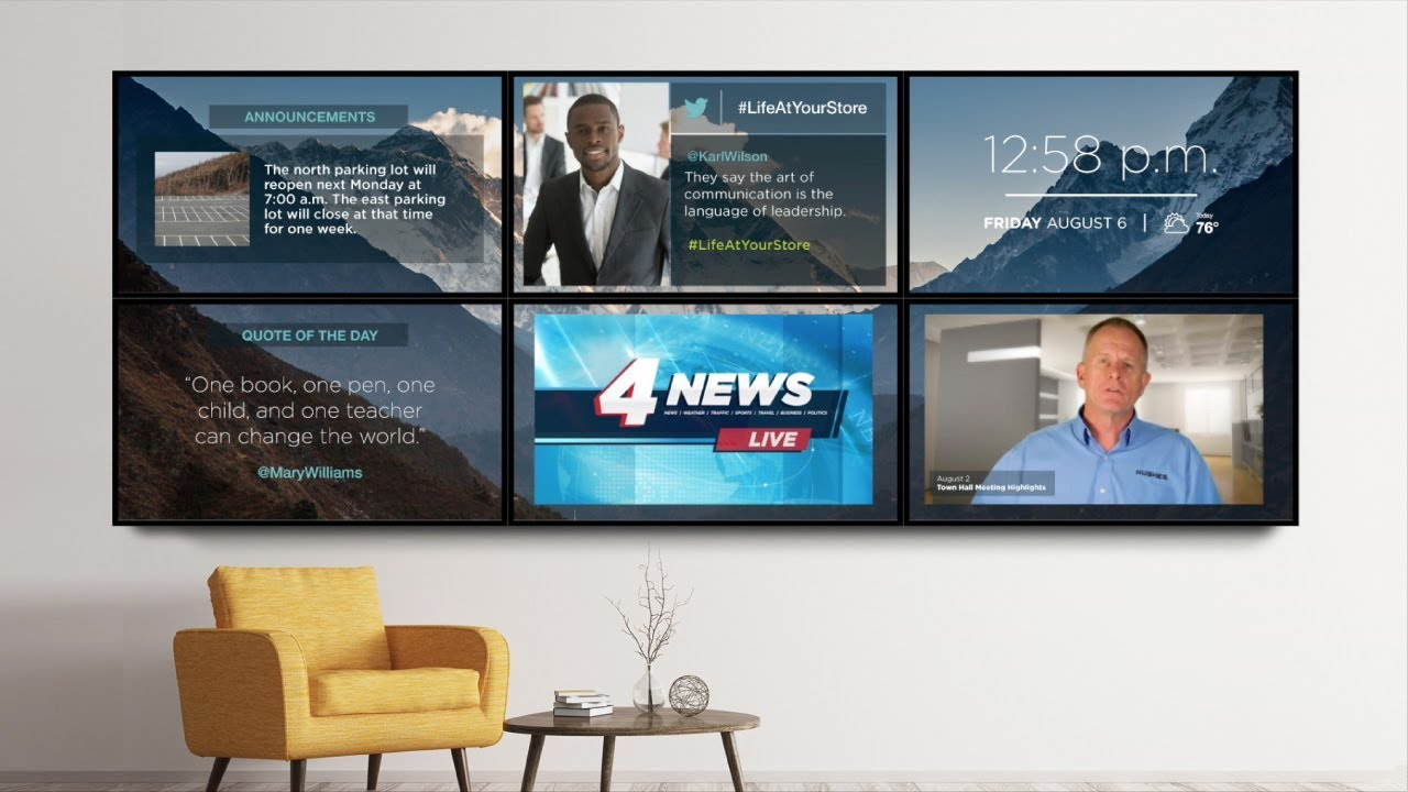 Sample Video Wall - Corporate Office