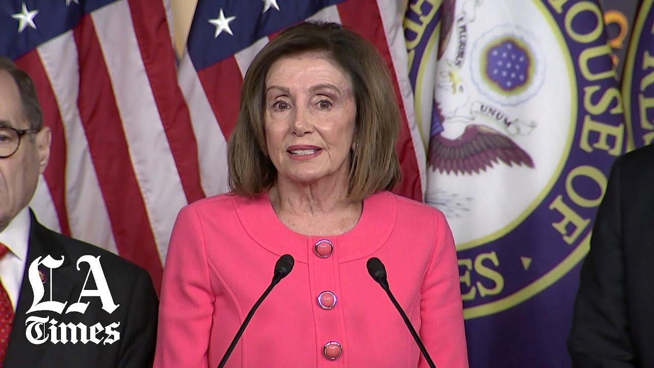 Pelosi discusses next steps in Trump impeachment - YouTube