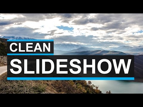 Clean Parallax Slideshow Tutorial - After Effects Clean Motion Graphics Tutorial!