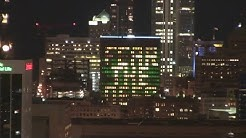 BMO Harris Bank building lit to cheer on the Bucks