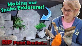 Decorating Our Reptile Zoo Enclosures! (Part 2)