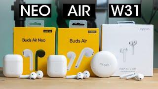 Realme Buds Air Neo VS Buds Air VS Oppo Enco W31   Best TWS Earphones?
