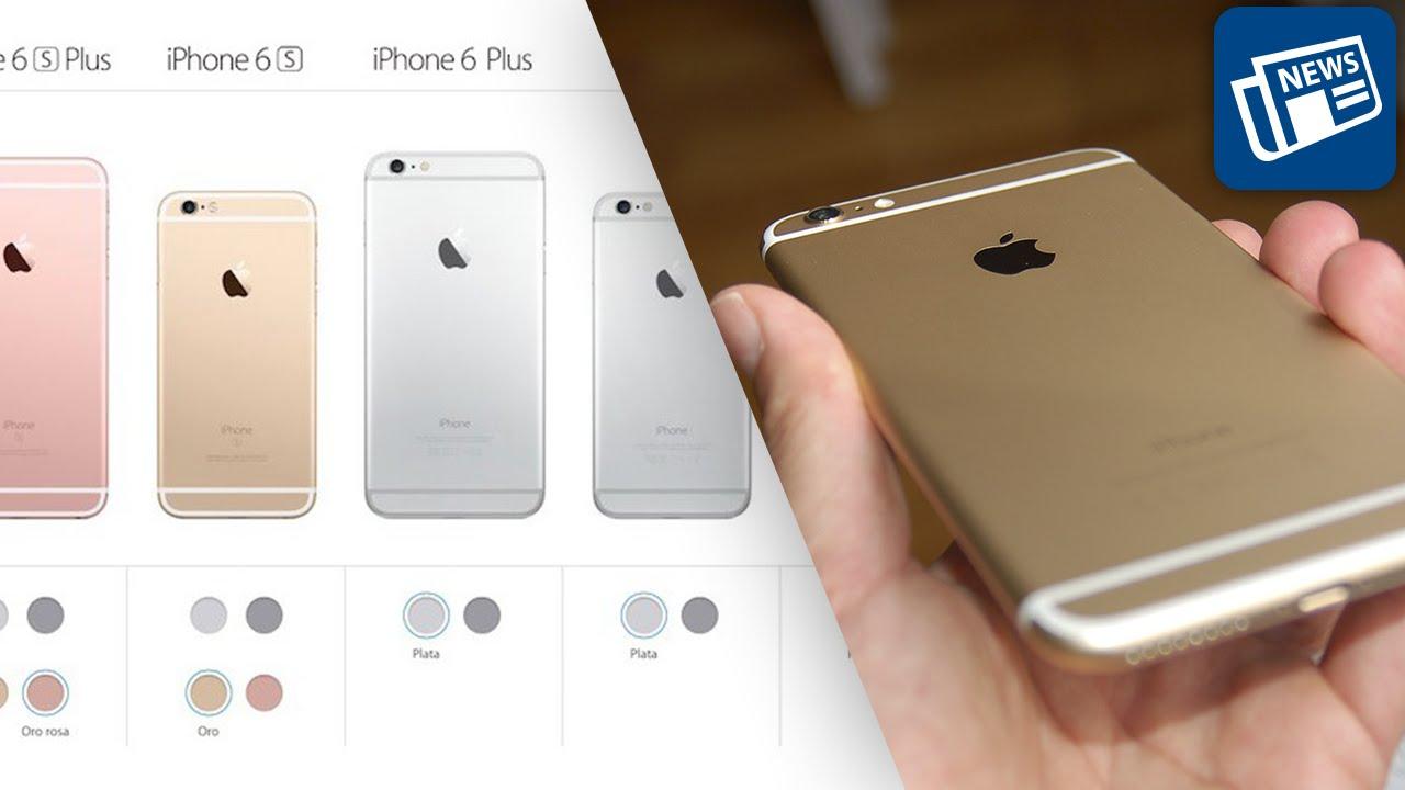 b05428f4db4 Apple elimina el color dorado en los iPhone 6 y 5s - YouTube
