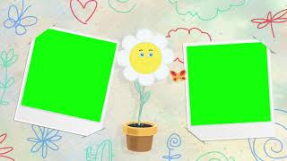 Baby Photo Album slideshow background Green Screen after effects Premiere pro Chroma Key