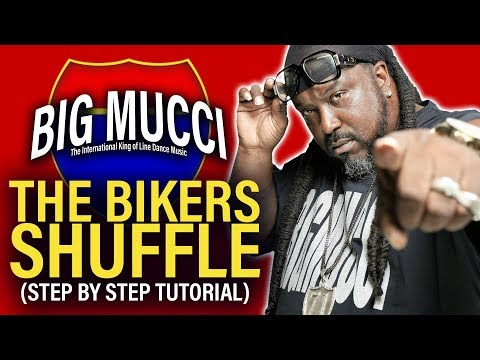 BIKERS SHUFFLE LINE DANCE [ STEP BY STEP ]  INSTRUCTIONAL