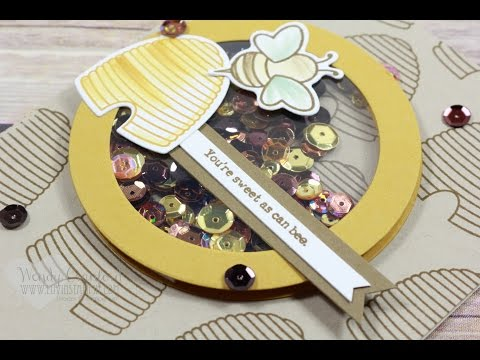How To Create A Background & Shaker Piece feat. Shooting Star Stampin' UP!