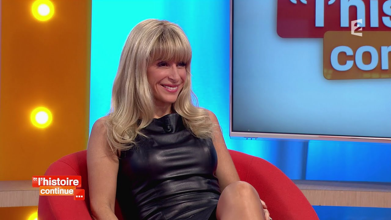 Sophie Audouin Super Hot Blonde Milf In Super Sexy Tight Leather Dress