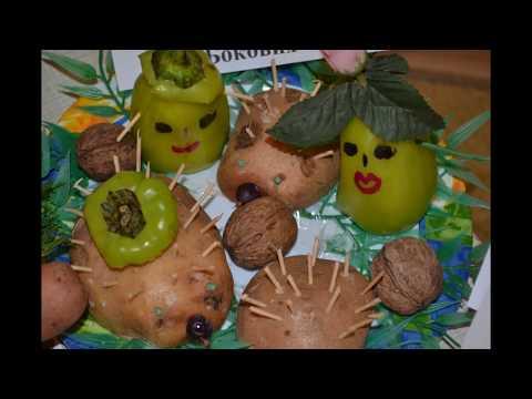Замечательные поделки из овощей и фруктов делаем своими руками