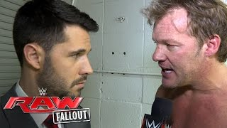 """Chris Jericho demands """"quiet"""" from """"No Name"""": Raw Fallout, May 23, 2016"""