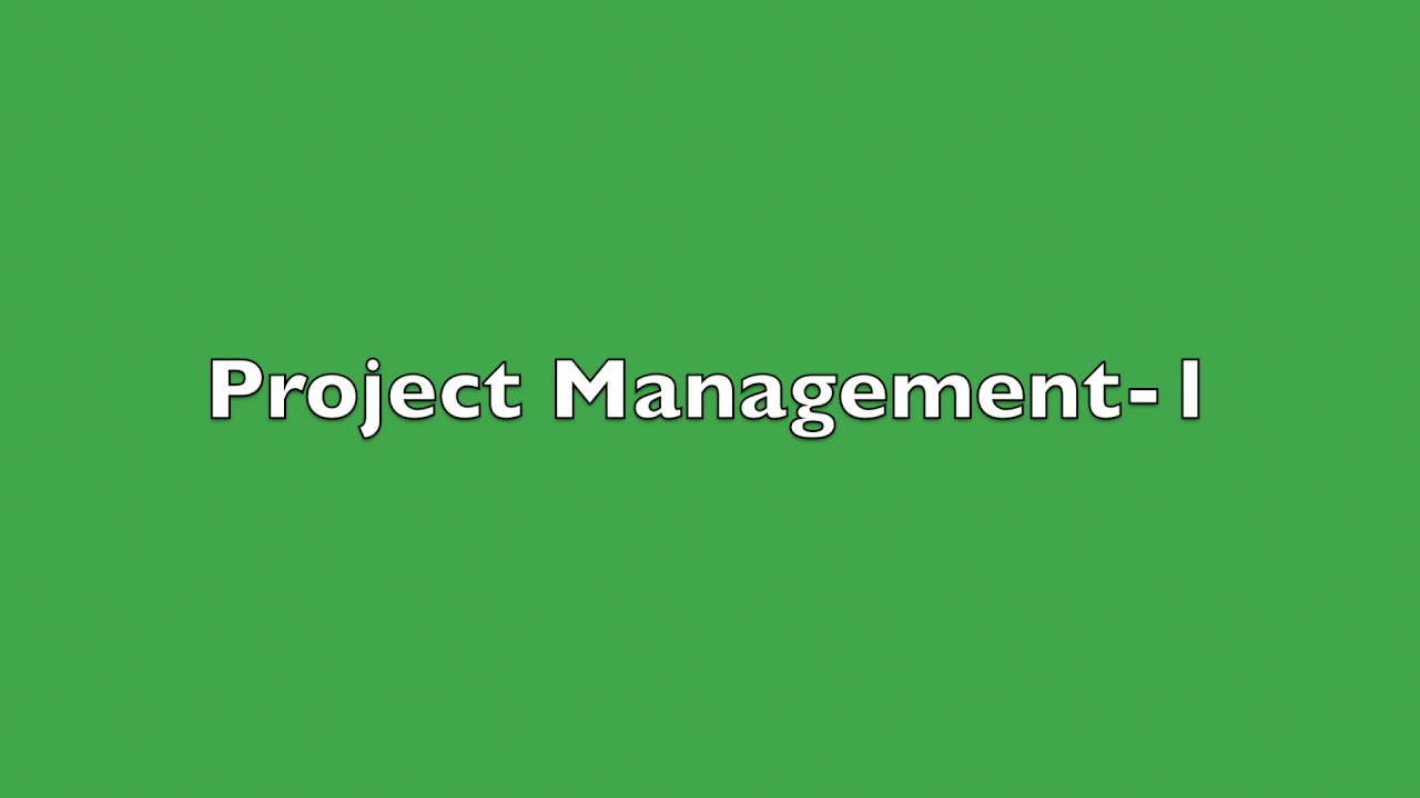 Project Management-1 | Project Evaluation And Review Technique (Pert) &  Critical Path Method (Cpm)