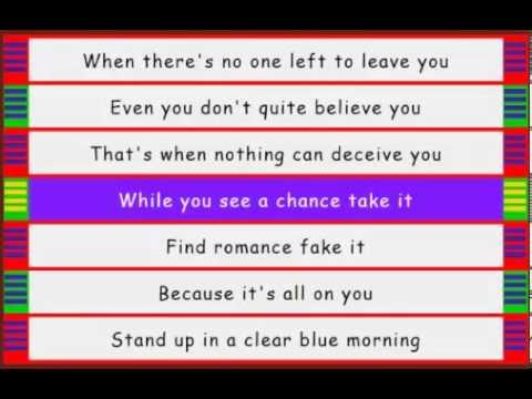 Steve Winwood - While You See A Chance - Lyrics