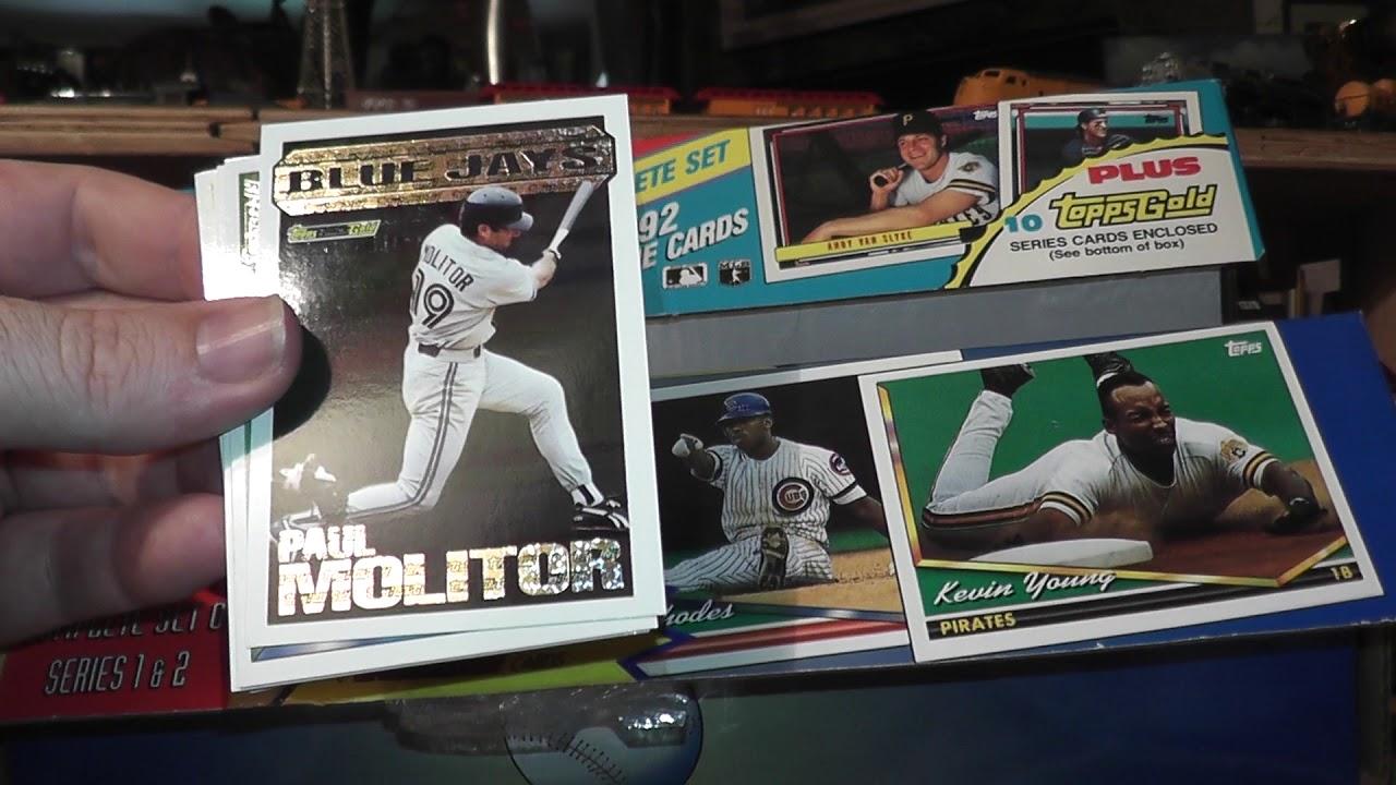 Topps Factory Sealed 1994 Baseball Cards Set Black Gold Asmr Vlog