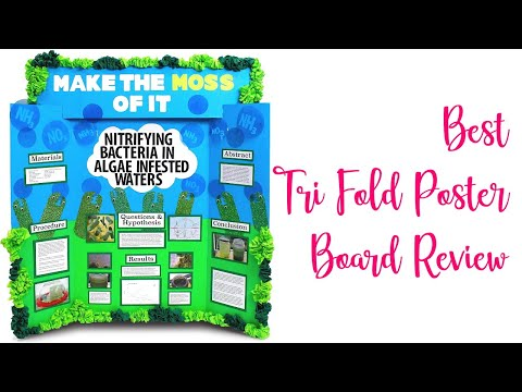 Best Tri Fold Poster Board Review - Trifold Display Presentation Project