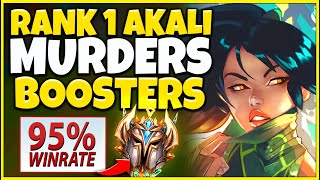 #1 AKALI WORLD GOES AGAINST 95% WIN-RATE DUO BOOSTERS! FT. FOGGEDFTW2 - League of Legends