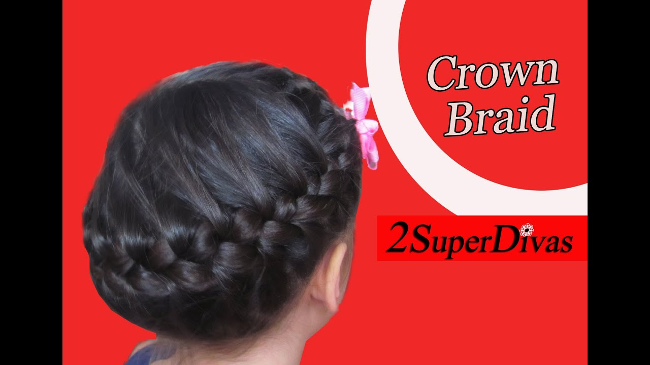 How To Make A Crown Braid, Hairstyle, Updo For Little Girls,prom, Wedding,  Cheerleaders