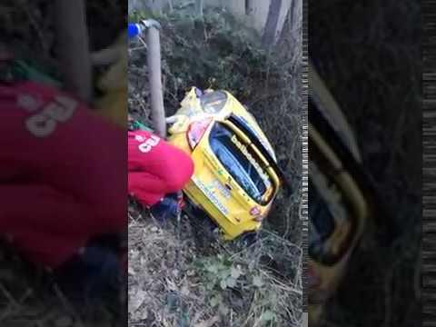 Rallye Sanremo 2017 - shakedown - incidente Borgogno