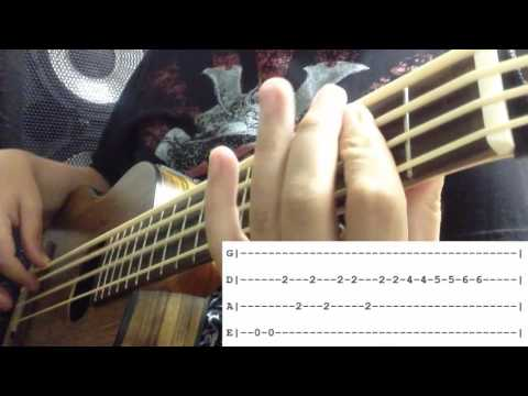 Bass Cover with Tabs - I Will Survive - Cake