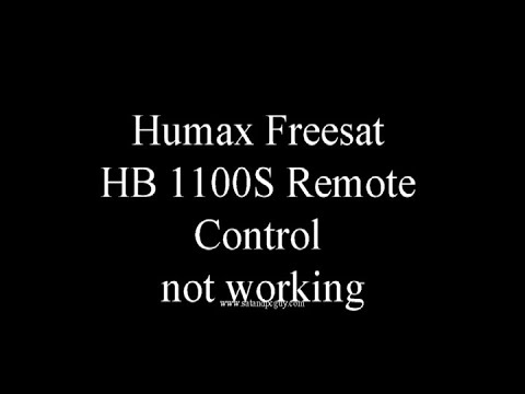 Humax Freesat HB1100S Remote Control Not Working