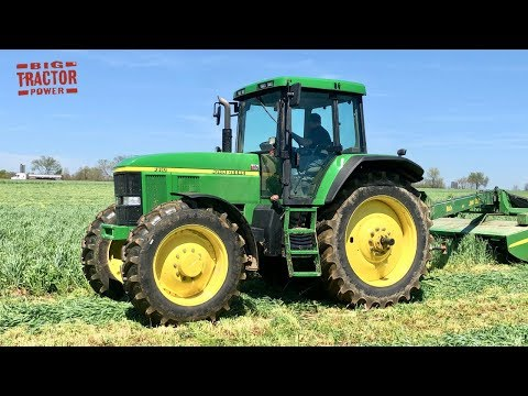 Unique John Deere 7810 Tractor Mowing Rye