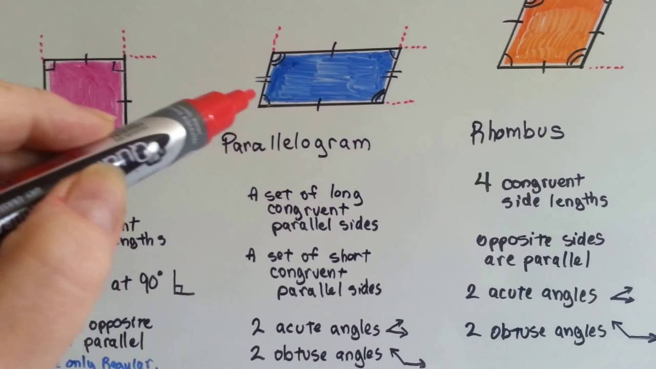 Grade 5 math 113 quadrilaterals rectangle square parallelogram grade 5 math 113 quadrilaterals rectangle square parallelogram rhombus trapezoid youtube ccuart Gallery