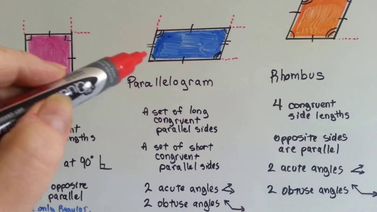 Grade 5 Math 11 3 Quadrilaterals Rectangle Square