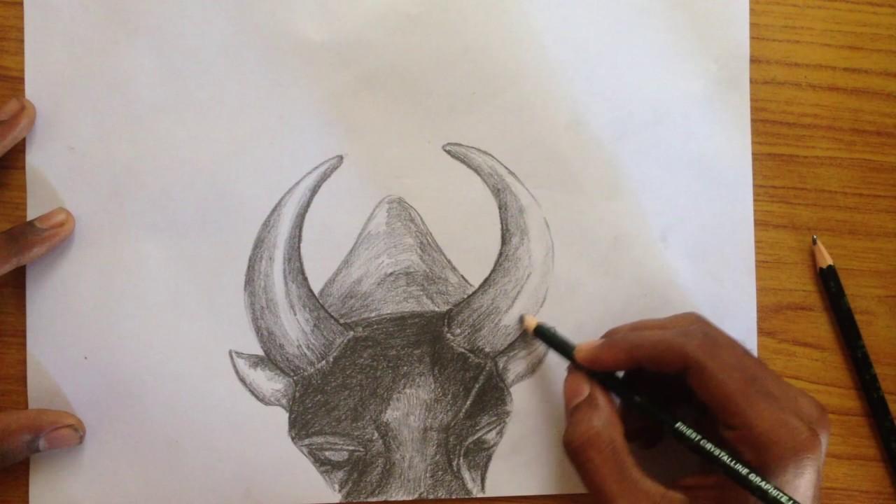 Jallikattu support pencil sketching
