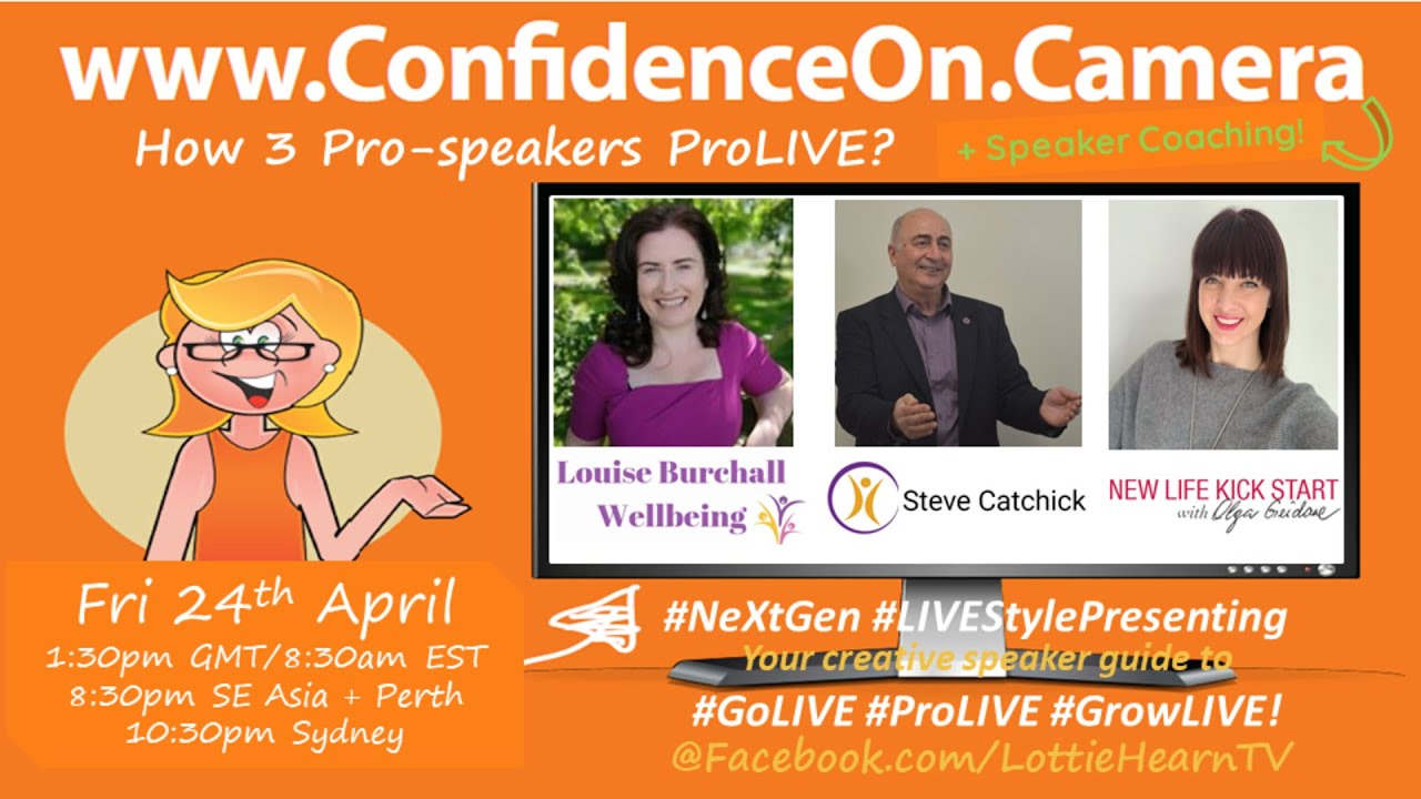 Download How 3 Pro-Speakers #ProLIVE + #ConfidenceOnCamera Speaker Coaching