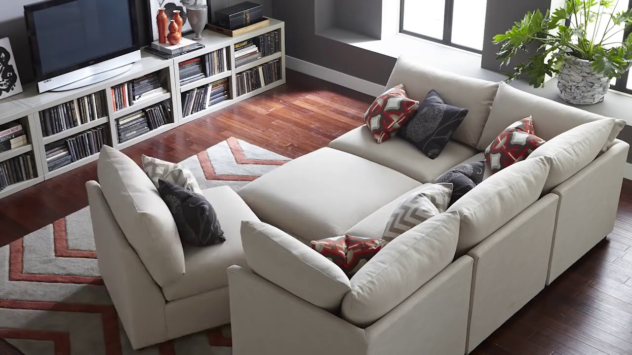 The Beckham Sectional Sofa by Bassett Furniture - YouTube