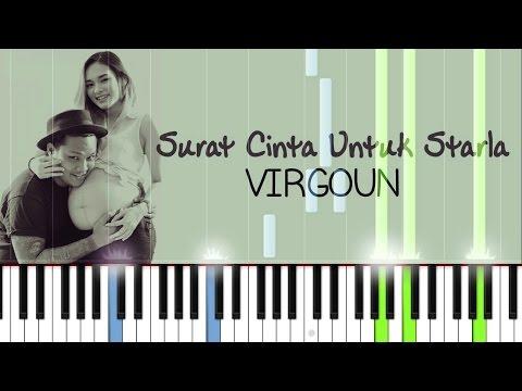 Virgoun - Surat Cinta Untuk Starla - Easy Piano Tutorial - Verse