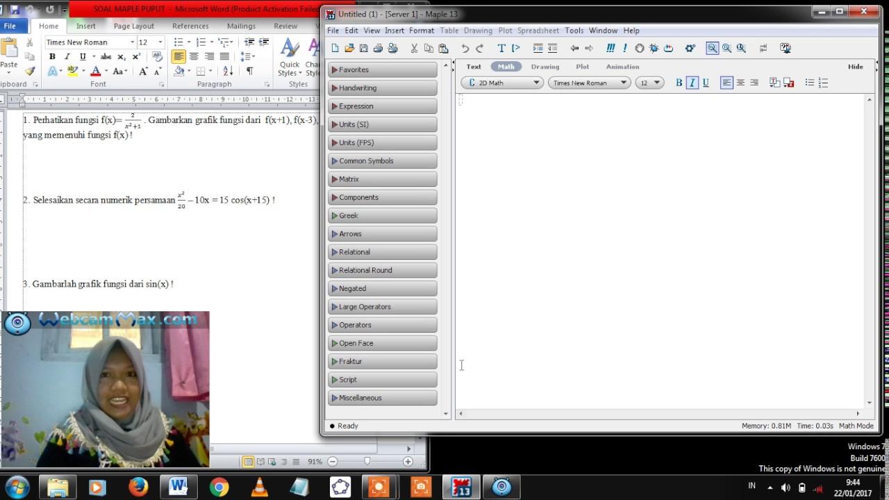 Penyelesaian fungsi grafik menggunakan maple 13 youtube penyelesaian fungsi grafik menggunakan maple 13 ccuart Images