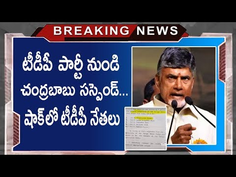 AP CM Chandrababu Naidu Suspended Letter From TDP Party Goes Viral | Tollywood Nagar