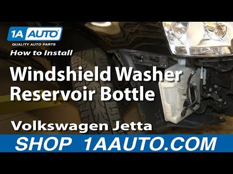 How to Replace Windshield Washer Reservoir Bottle 05-10 Volkswagen Jetta