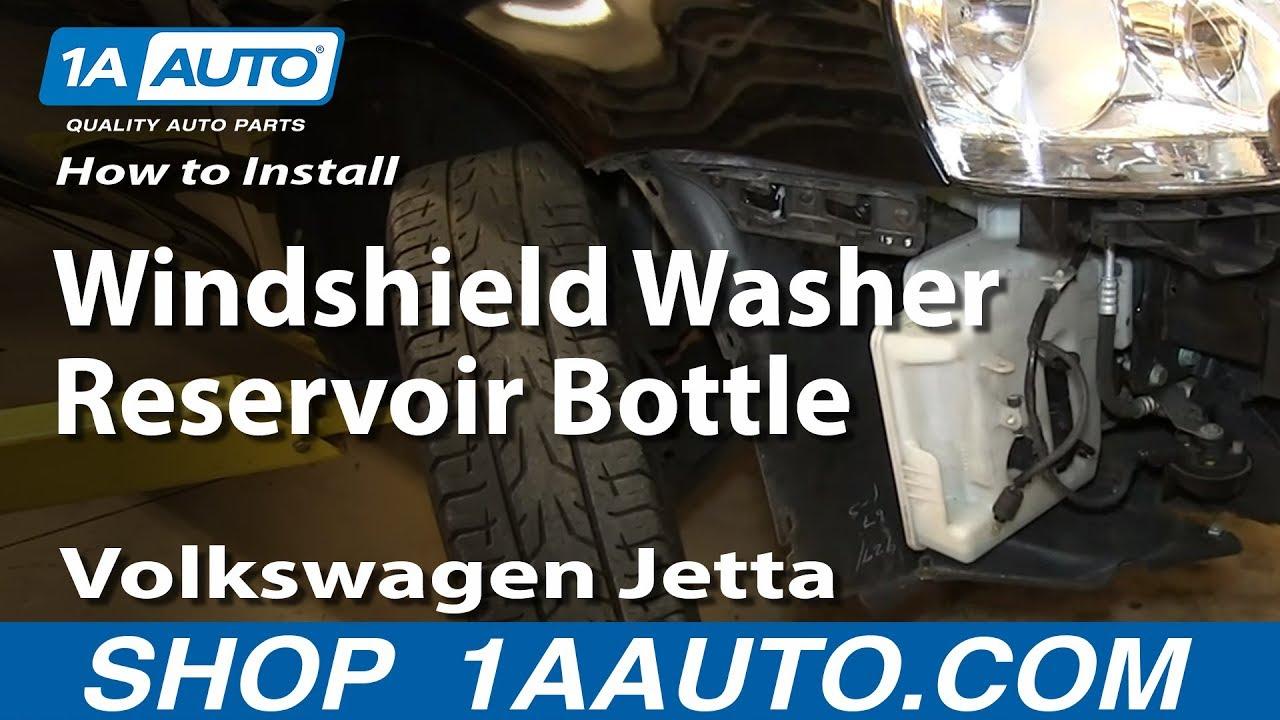 how to install replace windshield washer reservoir bottle 2005 10 volkswagen jetta [ 1280 x 720 Pixel ]