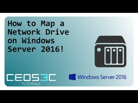 How To Map A Network Drive With GPO On Windows Server 2016