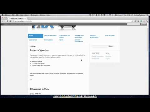 Wordpress CMS Example
