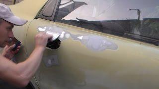 Шпаклевание неровностей на кузове авто.Ланос-Сенс.