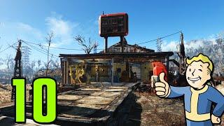Fallout 4 Walkthrough Gameplay Part 10 - BEGINNING OUR SETTLEMENT (PC)