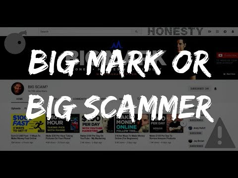 BIG MARK PROMOTING A SCAM! (WARNING)