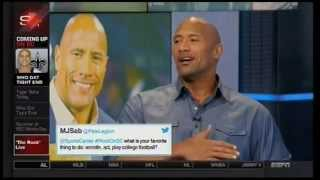The Rock  talks Muhammad Ali, John Cena, WWE comeback, Lebron, Hercules on Sportscenter 7/15/2014