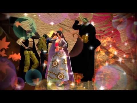 【MMDワンピ】☆ハンコックと強面な男達でGirls♪【鰐様&タス屋&キラー】☆