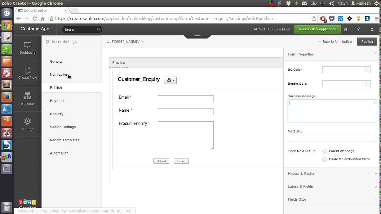 Create Custom Database Applications using Zoho Creator