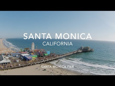 Flying over Santa Monica California - DRONE FLIGHT